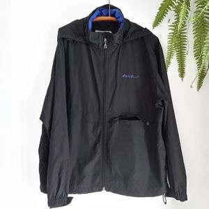 Men's Eddie Bauer black windbreaker. Size M.